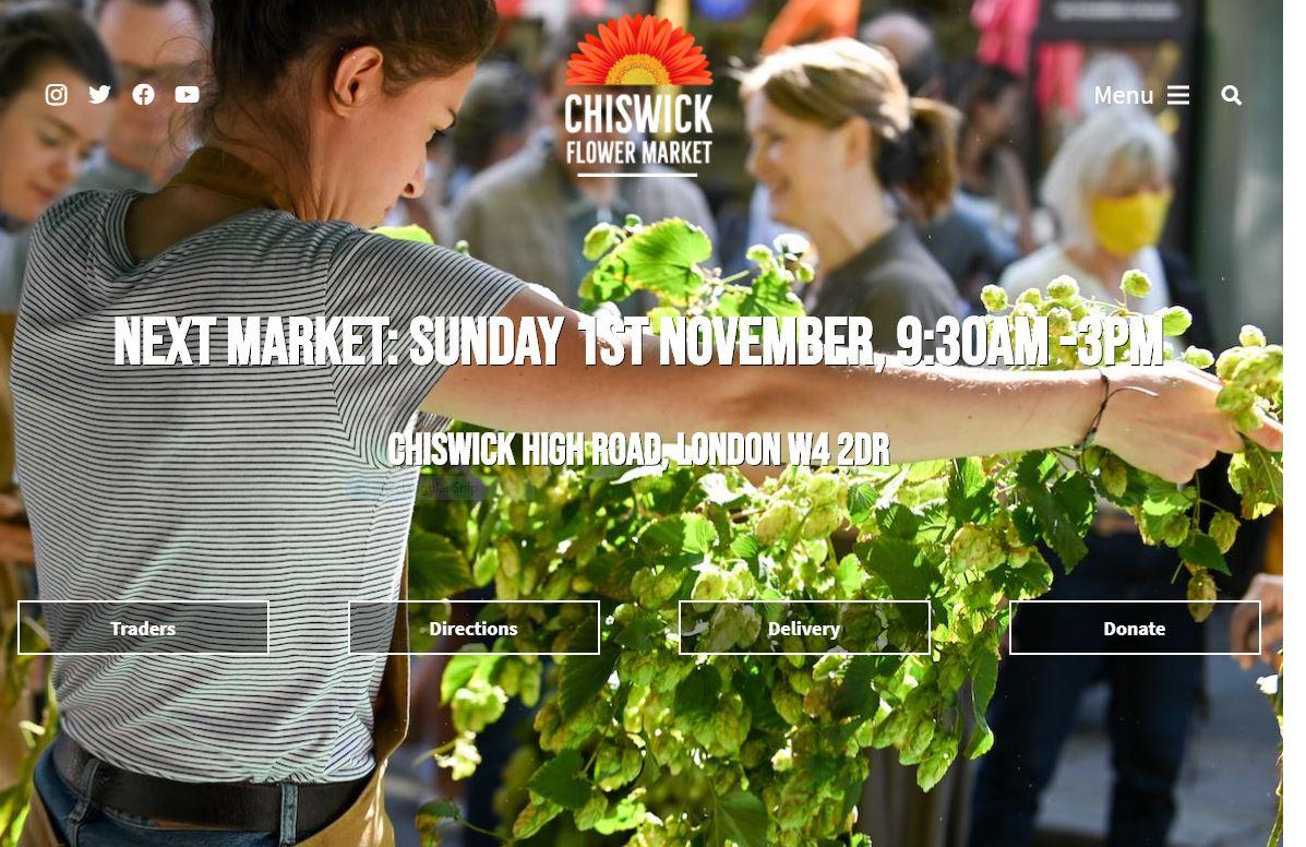 Chiswick Flower Market website