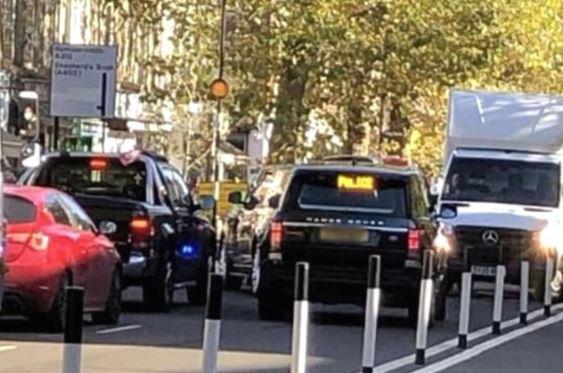 Queen stuck in traffic