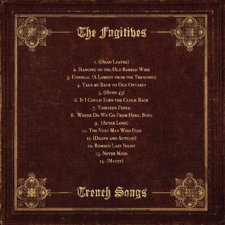 22 December The Fugitives - Trench Songs - Back Cover_web