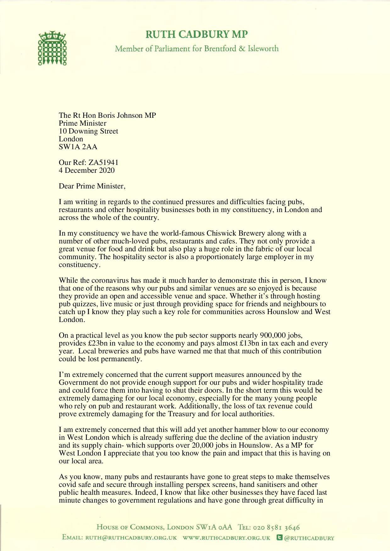 Ruth's letter to Boris