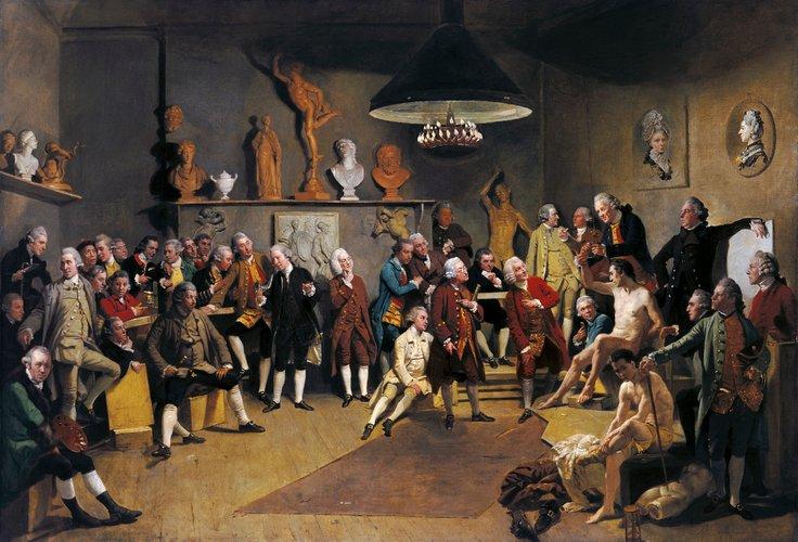 Johann Zoffany -The Acamedicians of the Royal Academy, 1771 - 1772