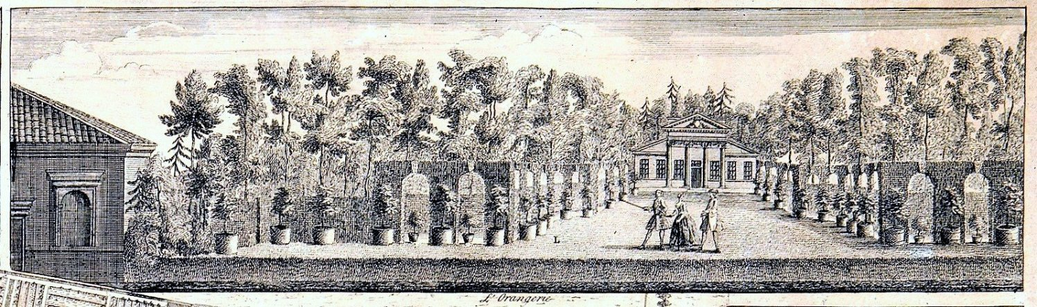 1.49 Vignette of the arcade on Rocque plan, c.1735