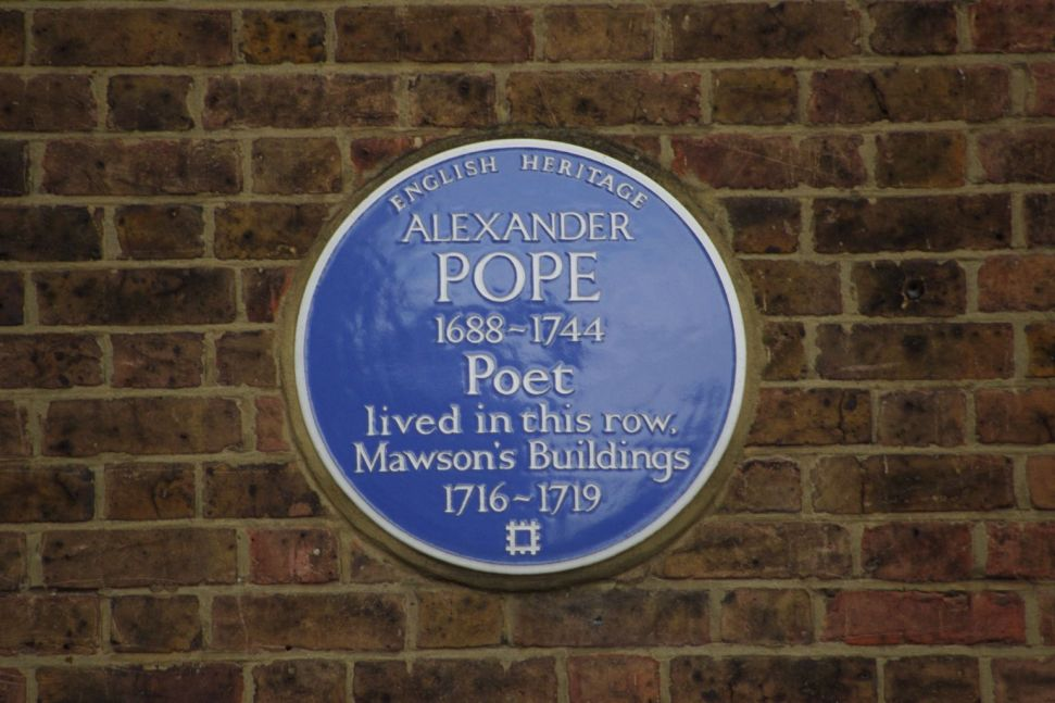 Alexander Pope blue plaque_web