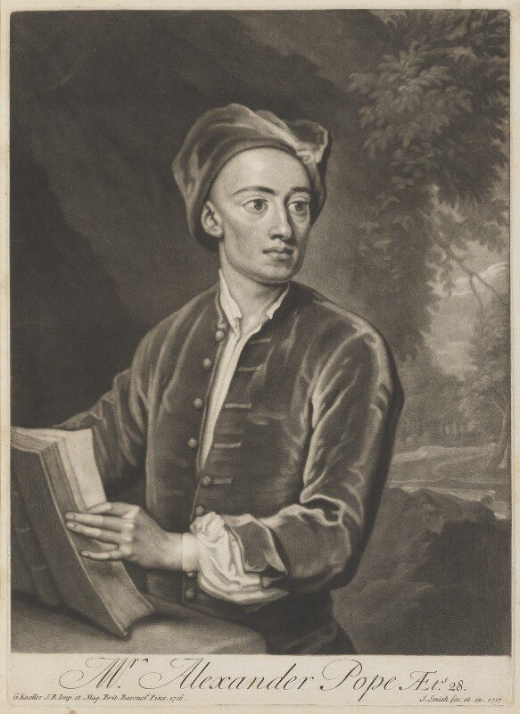 Alexander-Pope by John Smith, after Sir Godfrey Kneller 1717 (1716)