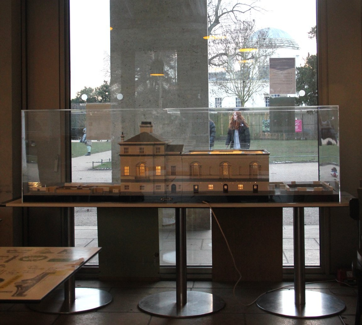 Chiswick House Lego model in Cafe M