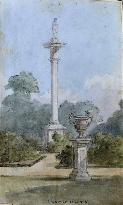Picture 3 The rose garden at the column in 1845