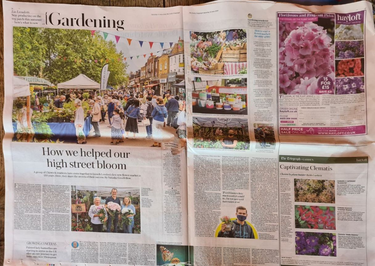 Daily Telegraph article on the Flower Market Image-web