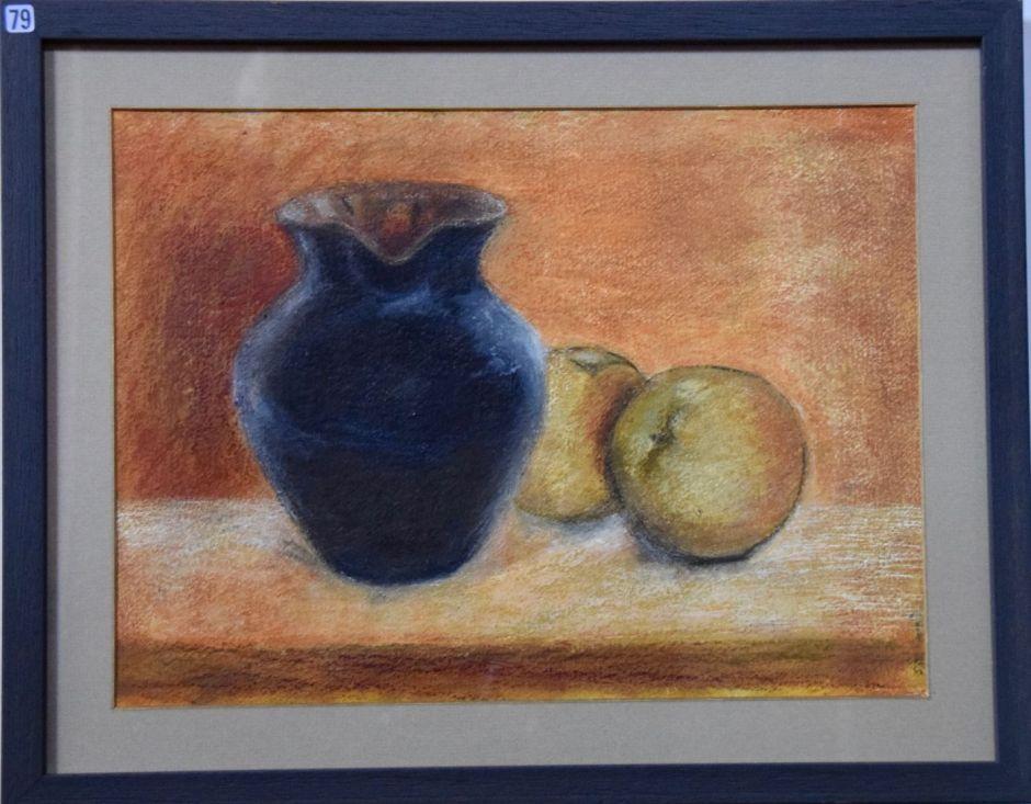 Jane Wyatt, Black Jug with Apples - UID79