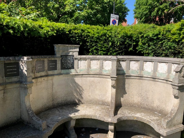 Vandalised memorial bench 2