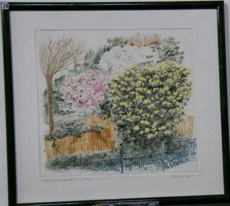 Zena Flax, Back gardens in May - UID24
