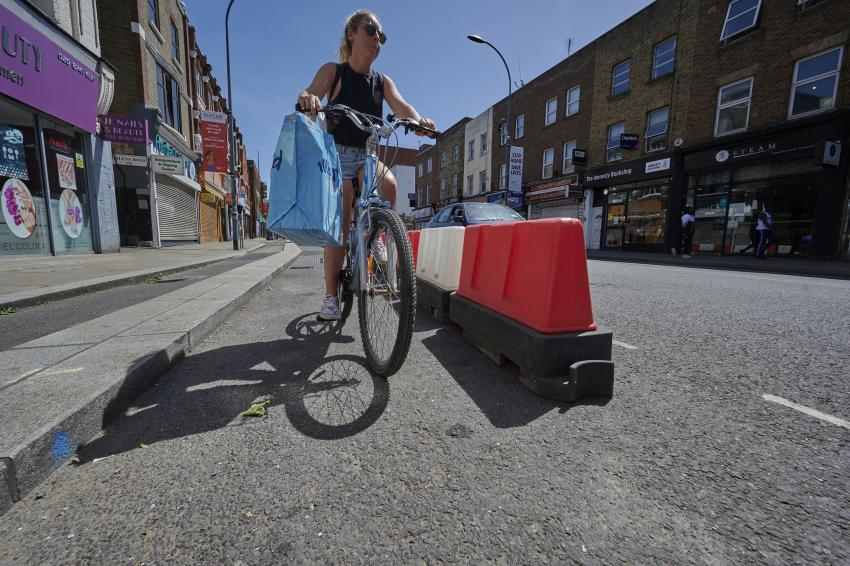cycle-lane-female-cyclist-king-street-hammersmith-featured