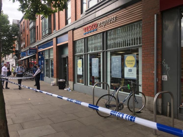 Tesco Express closed Fulham