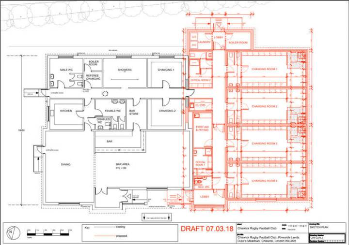 Chiwick Rugby Club house plans
