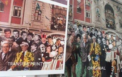 Chiswick Timeline Transfer Print and Original