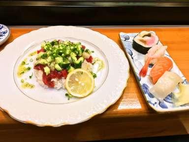 イタリアン生チラシとお寿司のランチ