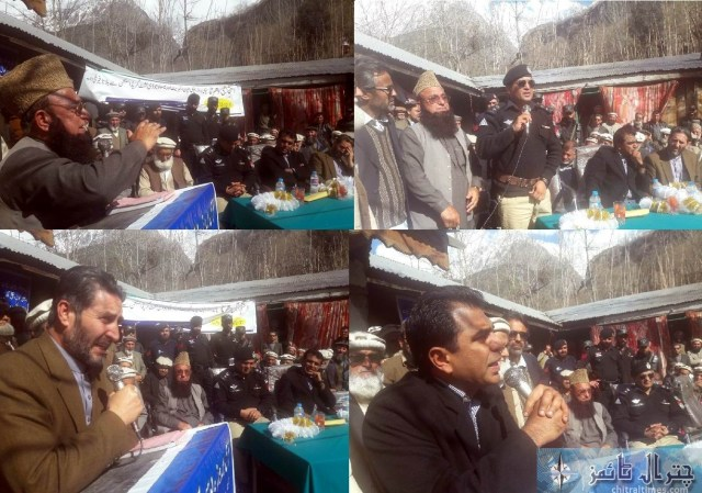 Broze protest ended chitral