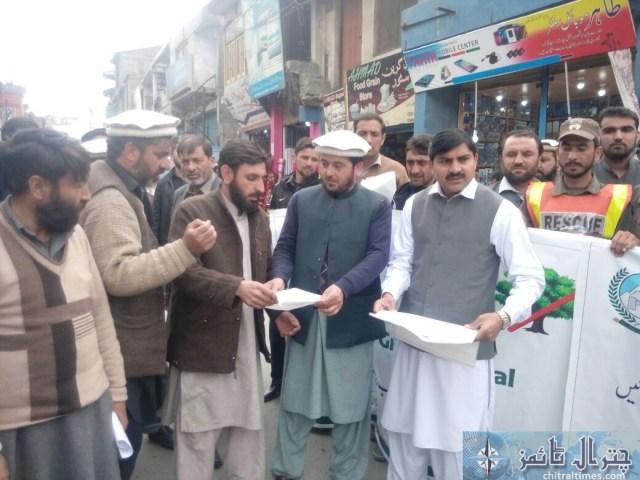 awarness rally against polythene bags lead by AC sajid nawaz chitral 2