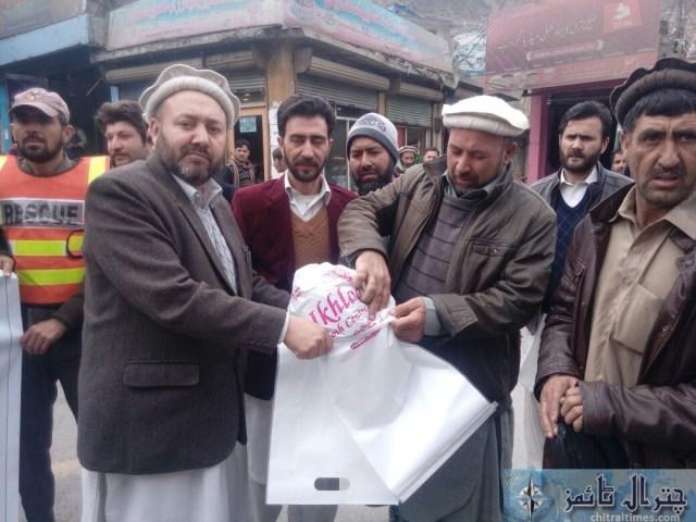 awarness rally against polythene bags lead by AC sajid nawaz chitral 4