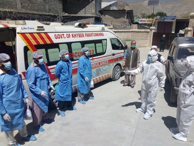 rescue upper chitral shifted covid 19 patients to their respective district upper dir 1