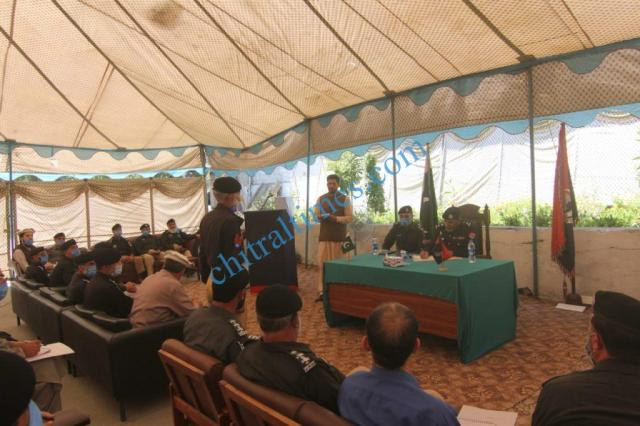 dpo chitral meeting with police jawans