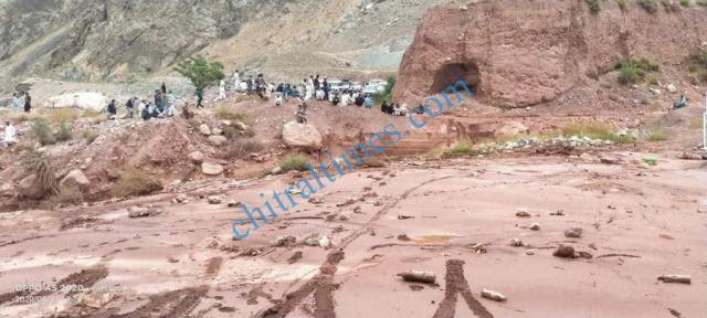 Zait chitral flood damages 1