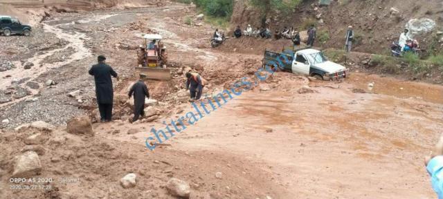 Zait chitral flood damages 5