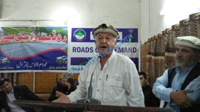 chitral development forum meeting capt siraj