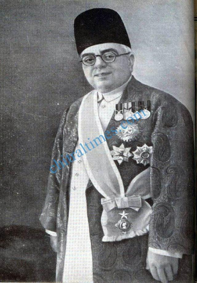 His Royal Highness Sir Aga Khan III in ceremonial dress with