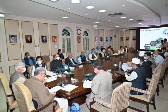 cm kp and speaker NA asad qaiser meeting