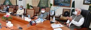 cm meeting on psdp kp mahmood