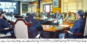 KP Chief Secretary Dr Kazim Niaz chaired commissioners meeting scaled
