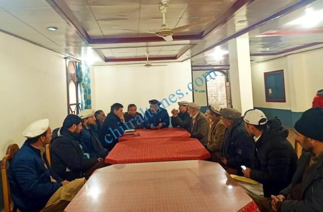 upper chitral contractors meeting