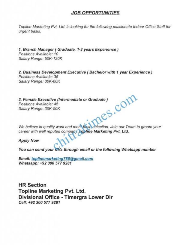 JOB OPPORTUNITIES topline 1