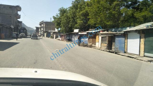 chitral bazar lockdown1