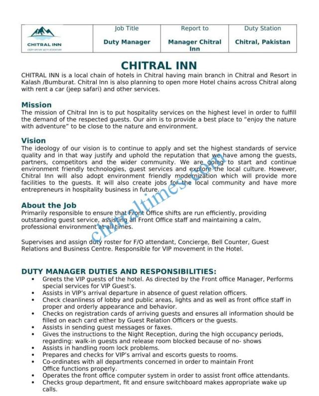 chitral inn hotel1