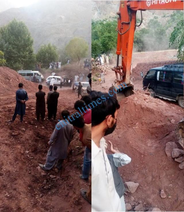 chitraltimes Reshun trafic restored mastuj road