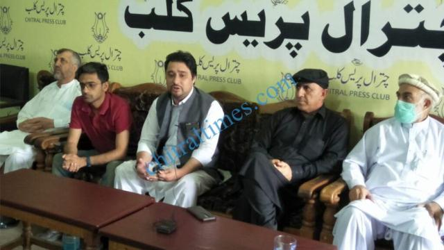 chitraltimes fpcci coordinator sartaj ahmad kpez press confrence ihtisham