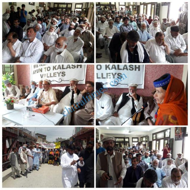 chitraltimes kalash valley road protest rally