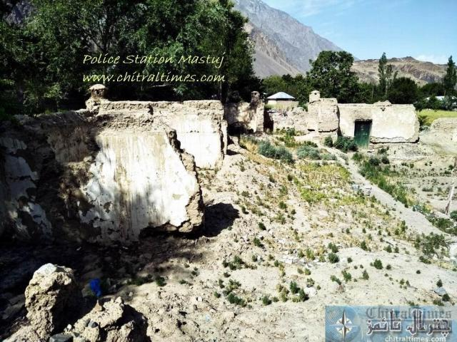 chitraltimes police station mastuj collapsed building 1 12