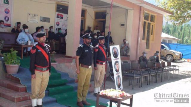 chitraltimes upper chitral police shuhada taqreeb