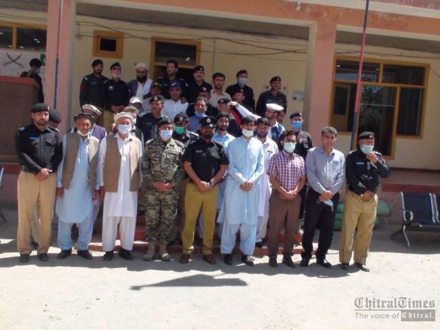 chitraltimes upper chitral police shuhada taqreeb3