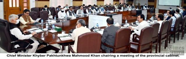 chitraltimes kp cabinet meeting chaired by cm mahmood