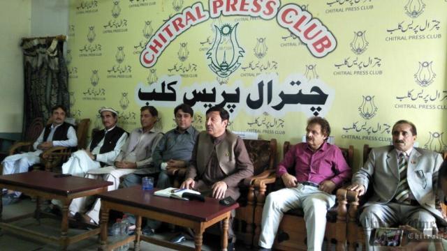 chitraltimes ppp chitral lower president fazle rabi jan press confrence3