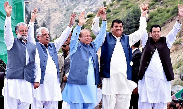 Lowari tunnel opened by PM Nawaz Sharif