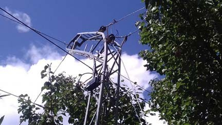 High voltage lines pose threat to residents