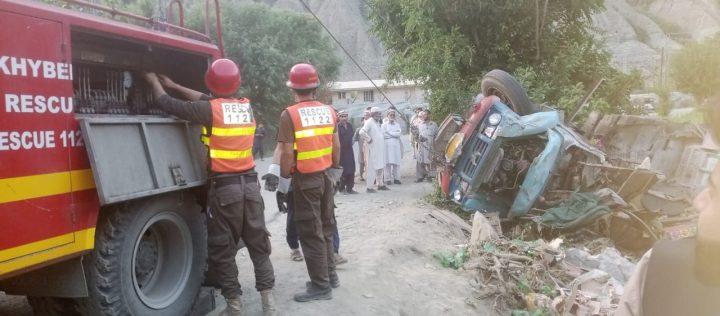 Truck driver, helper injured in accident