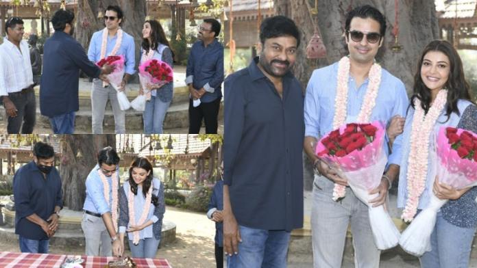 Kajal Aggarwal Enters Her Latest Project Acharya Sets With Gautam Kitchlu