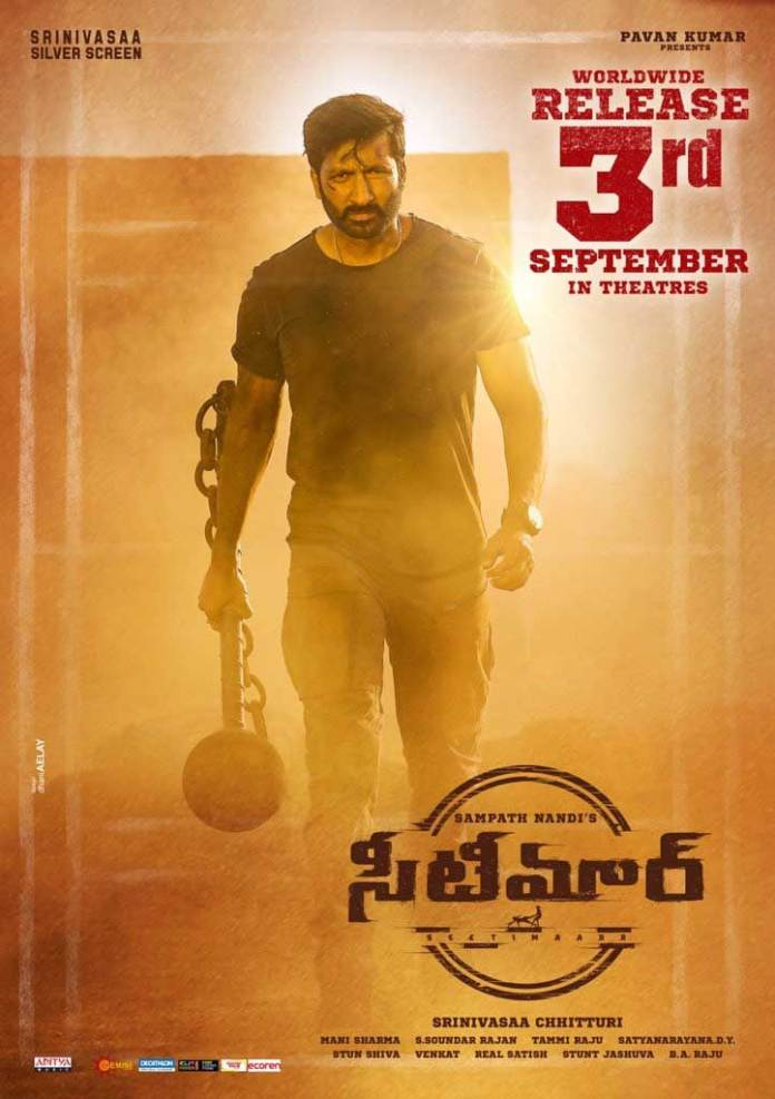 Gopichand and Tamannaah's Seetimaarr to release in theatres in September 3rd