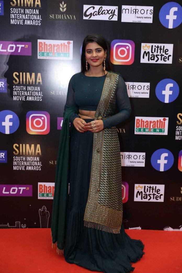 Actress Aishwarya Rajesh at Siima Awards 2021 photos