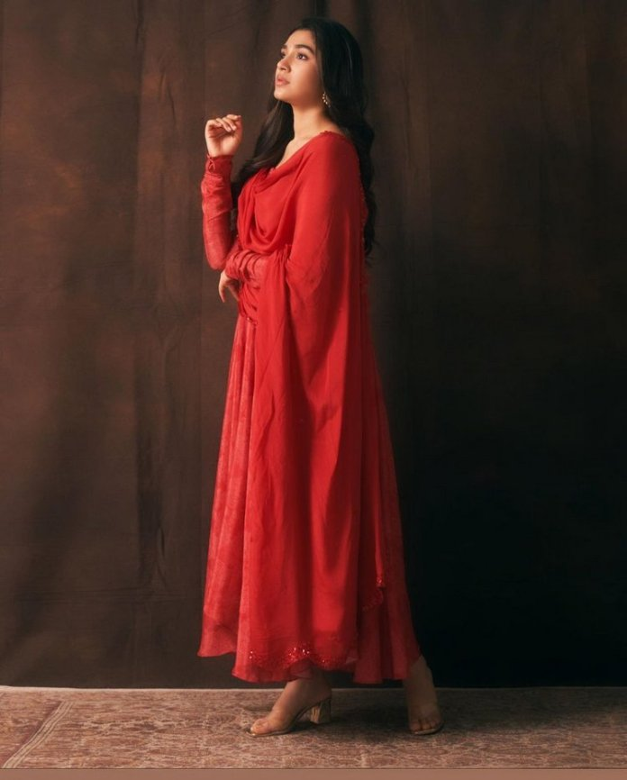 krithi shetty latest stills in Red dress images